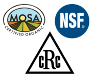 Beehive Botanicals is NSF certification as a standards benchmark in quality control